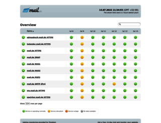 status.mail.de screenshot