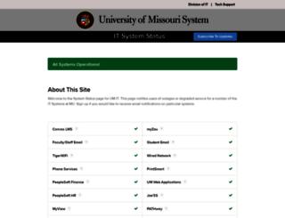 status.missouri.edu screenshot