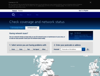 status.o2.co.uk screenshot