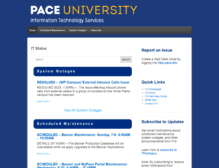 status.pace.edu screenshot