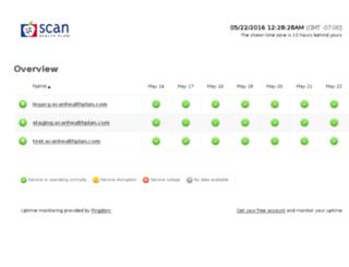 status.scanhealthplan.com screenshot