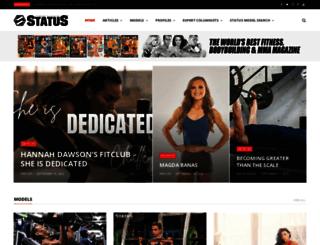 statusfitnessmagazine.com screenshot