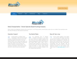 statustransportation.com screenshot