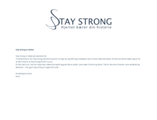 stay-strong.dk screenshot