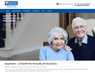 stayhomestairlifts.com screenshot