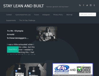 stayleanandbuilt.net screenshot