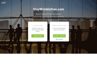 staywrinklefree.com screenshot
