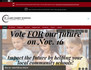 stclaircountyschools.net screenshot