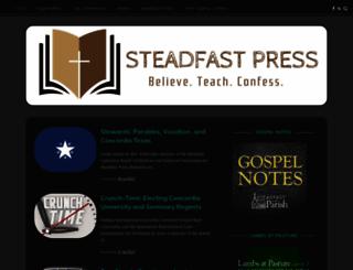 steadfastlutherans.org screenshot