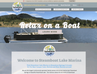 steamboatlakemarina.com screenshot