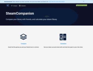 steamcompanion.com screenshot