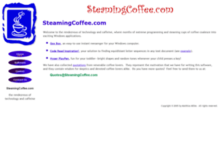 steamingcoffee.com screenshot