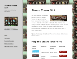 steamtowerslot.com screenshot