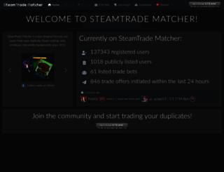 steamtradematcher.com screenshot
