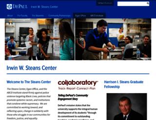 steans.depaul.edu screenshot