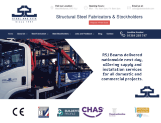 steelandsite.com screenshot