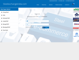 steelexchangeindia.com screenshot
