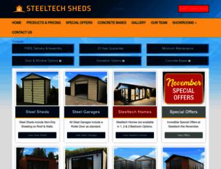 steeltechsheds.ie screenshot