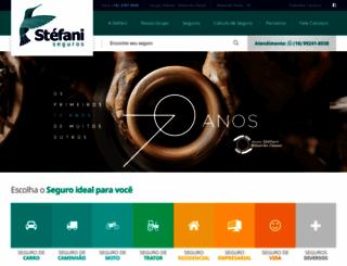 stefaniseguros.com.br screenshot