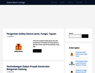 stellamariscollege.org screenshot