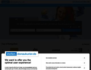 stellen.donaukurier.de screenshot
