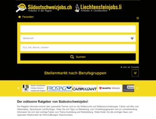 stellen.suedostschweiz.ch screenshot