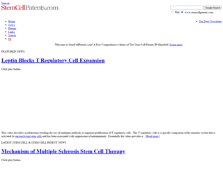 stemcellpatents.com screenshot