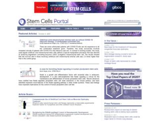 stemcellsportal.com screenshot