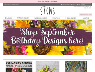 stemsflorist.com screenshot