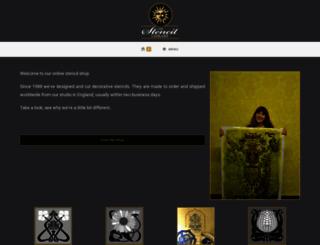 stencil-library.co.uk screenshot