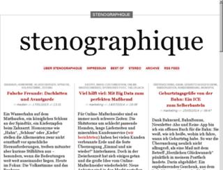 stenographique.de screenshot