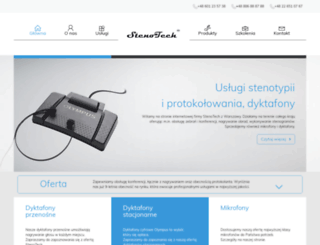 stenotech.com.pl screenshot