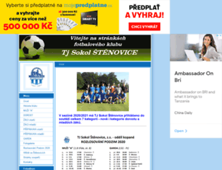 stenovice-fotbal.estranky.cz screenshot