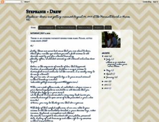 stephanieanddrew.blogspot.com screenshot