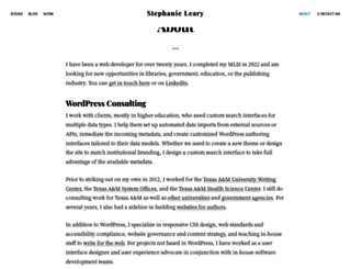 stephanieleary.com screenshot