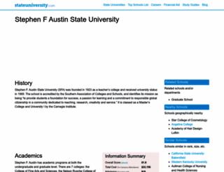 stephenfaustin.stateuniversity.com screenshot