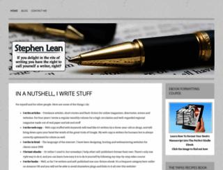 stephenlean.com screenshot