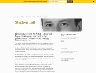 stephentall.org screenshot
