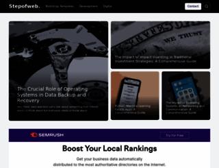 stepofweb.com screenshot