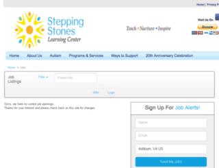 steppingstoneslearning.applicantpro.com screenshot