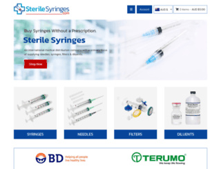 sterilesyringes.com screenshot