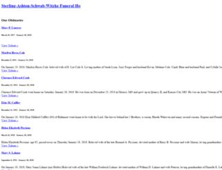 sterling-ashton-schwab-witzke.tributes.com screenshot
