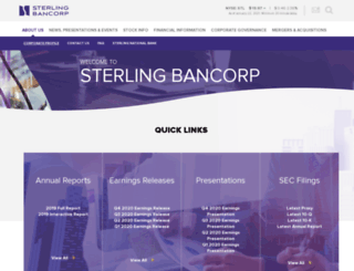 sterlingbancorp.com screenshot