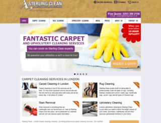 sterlingclean.co.uk screenshot