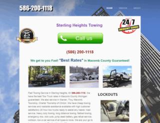 sterlingheightstowing.com screenshot