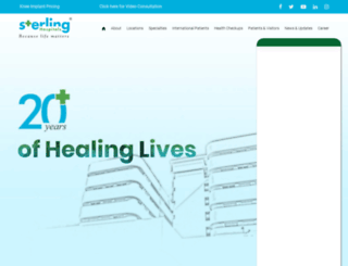 sterlinghospital.com screenshot