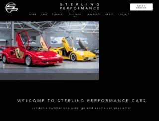 sterlingperformance.co.uk screenshot