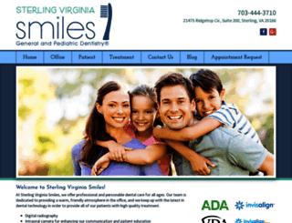 sterlingvirginiasmiles.com screenshot
