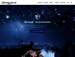 sternregister.de screenshot