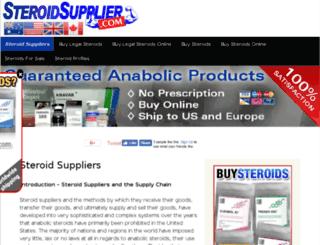 steroidsupplier.com screenshot